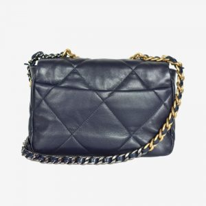 Chanel 19 Flap Bag Navy Small
